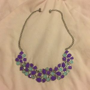 Jewelry - Blue and Purple Accent Necklace